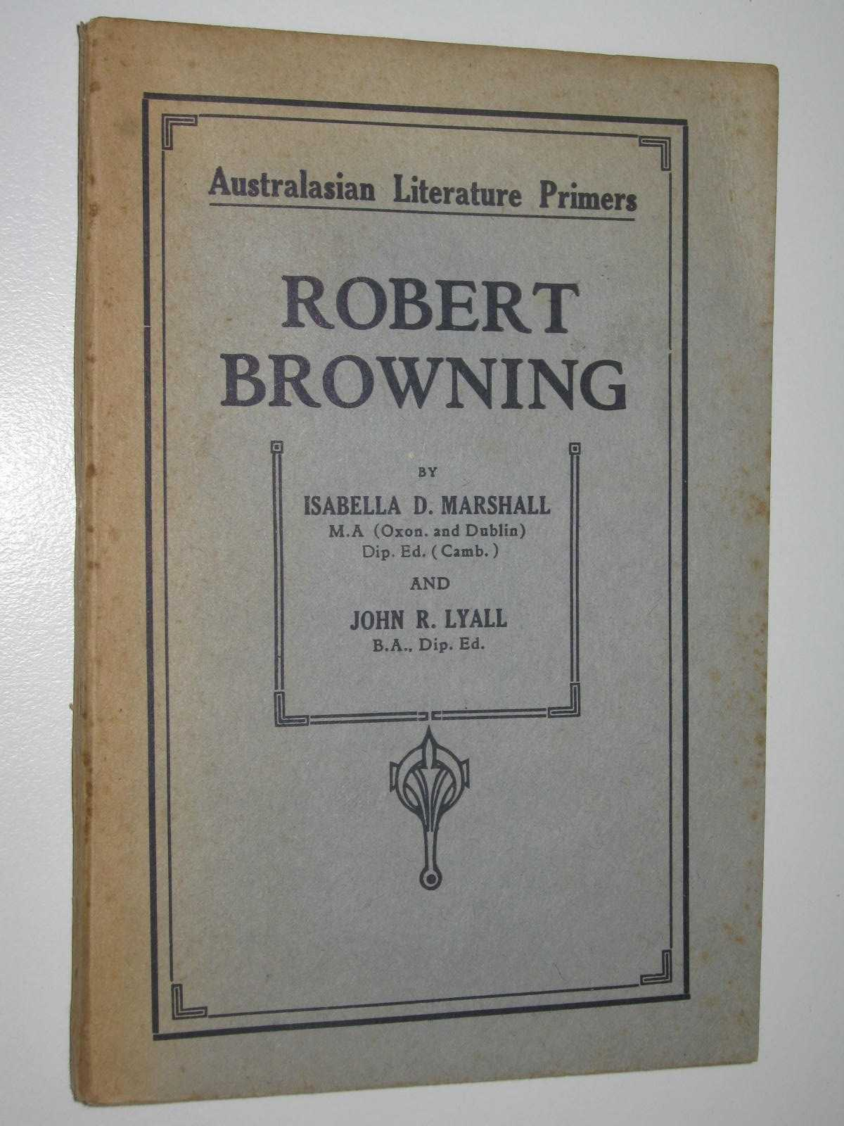 Image for Robert Browning - Australasian Literature Primers Series