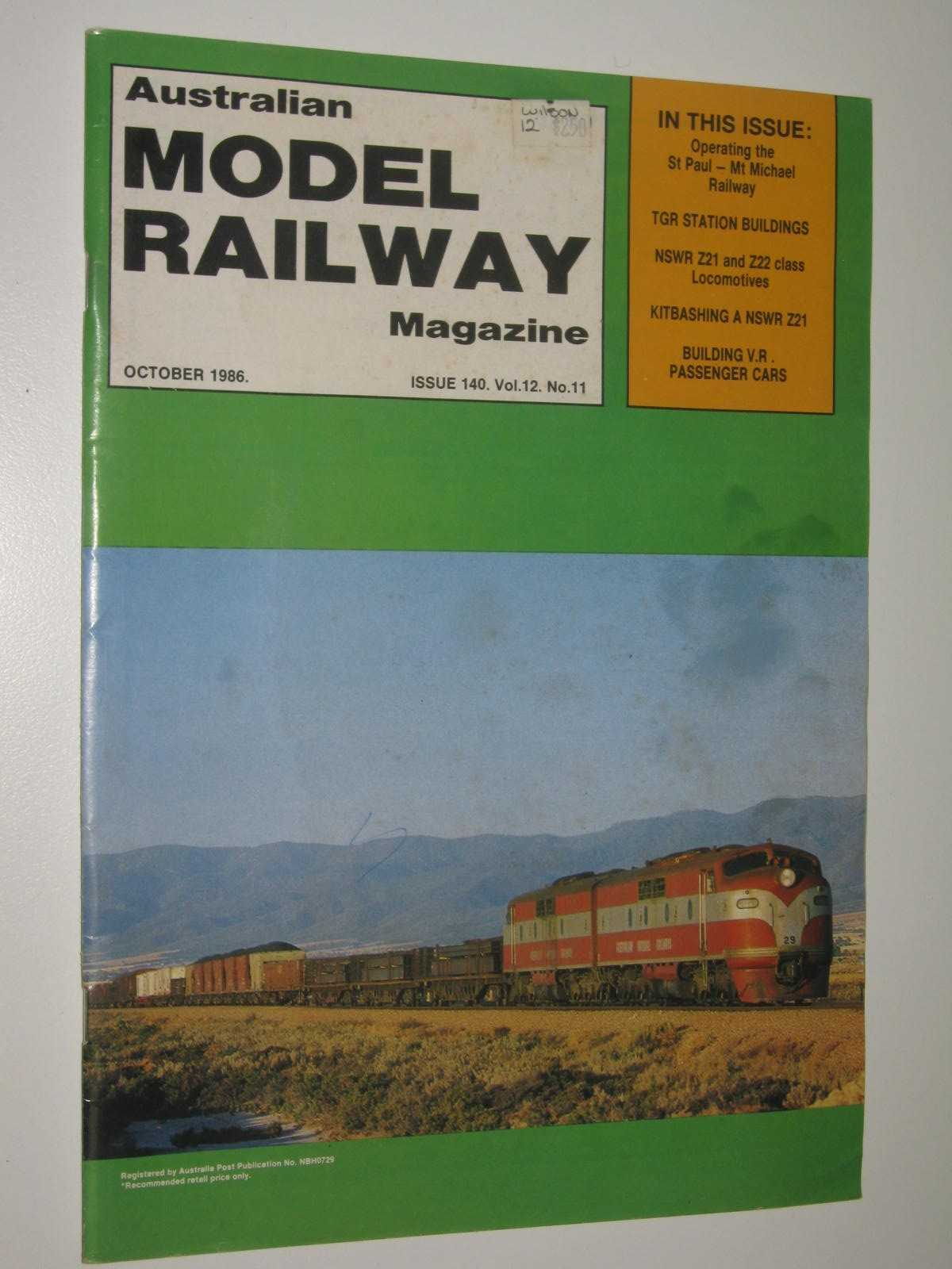 Image for Australian Model Railway Magazine October 1986 : Issue 140, Vol. 12. No 11