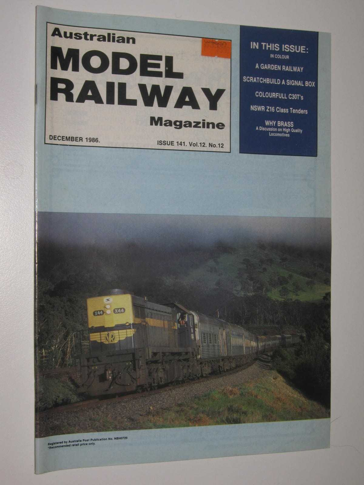 Image for Australian Model Railway Magazine December 1986 : Issue 141, Vol. 12. No 12