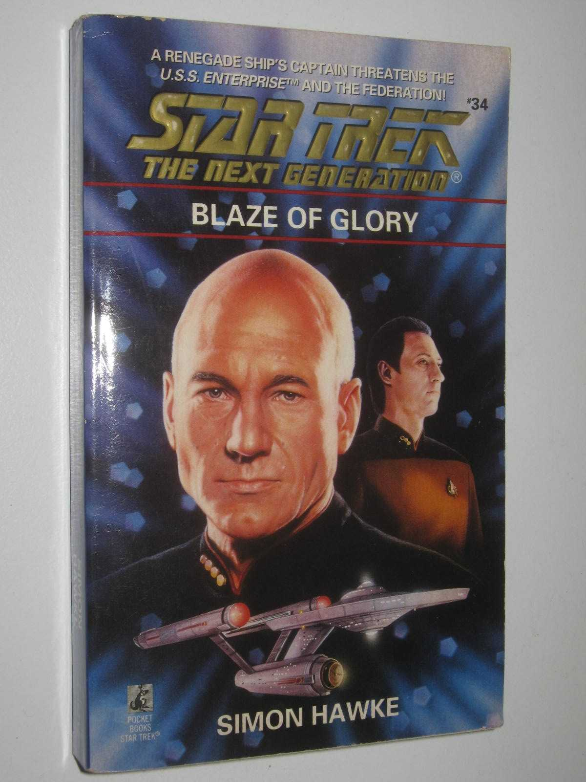 Image for Blaze of Glory - STAR TREK: The Next Generation Series #34
