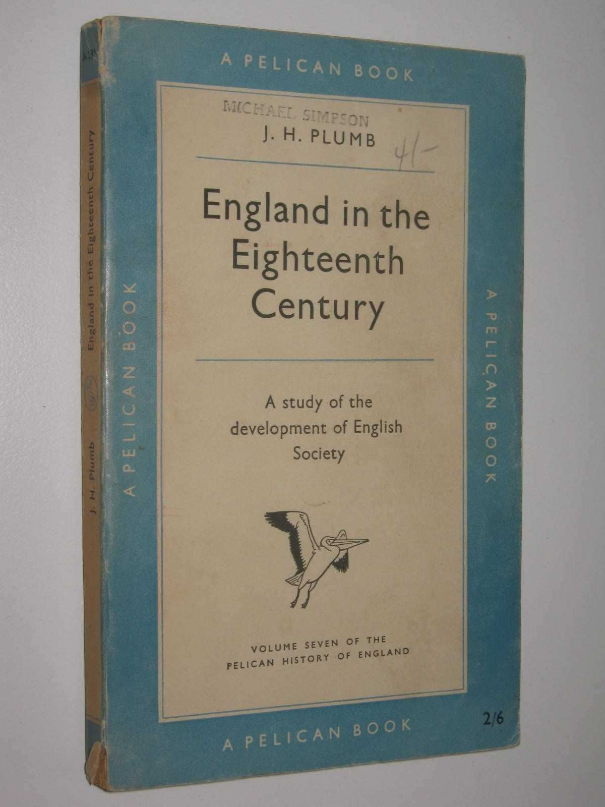 Image for England In The Eighteenth Century - Pelican History of England Series #7