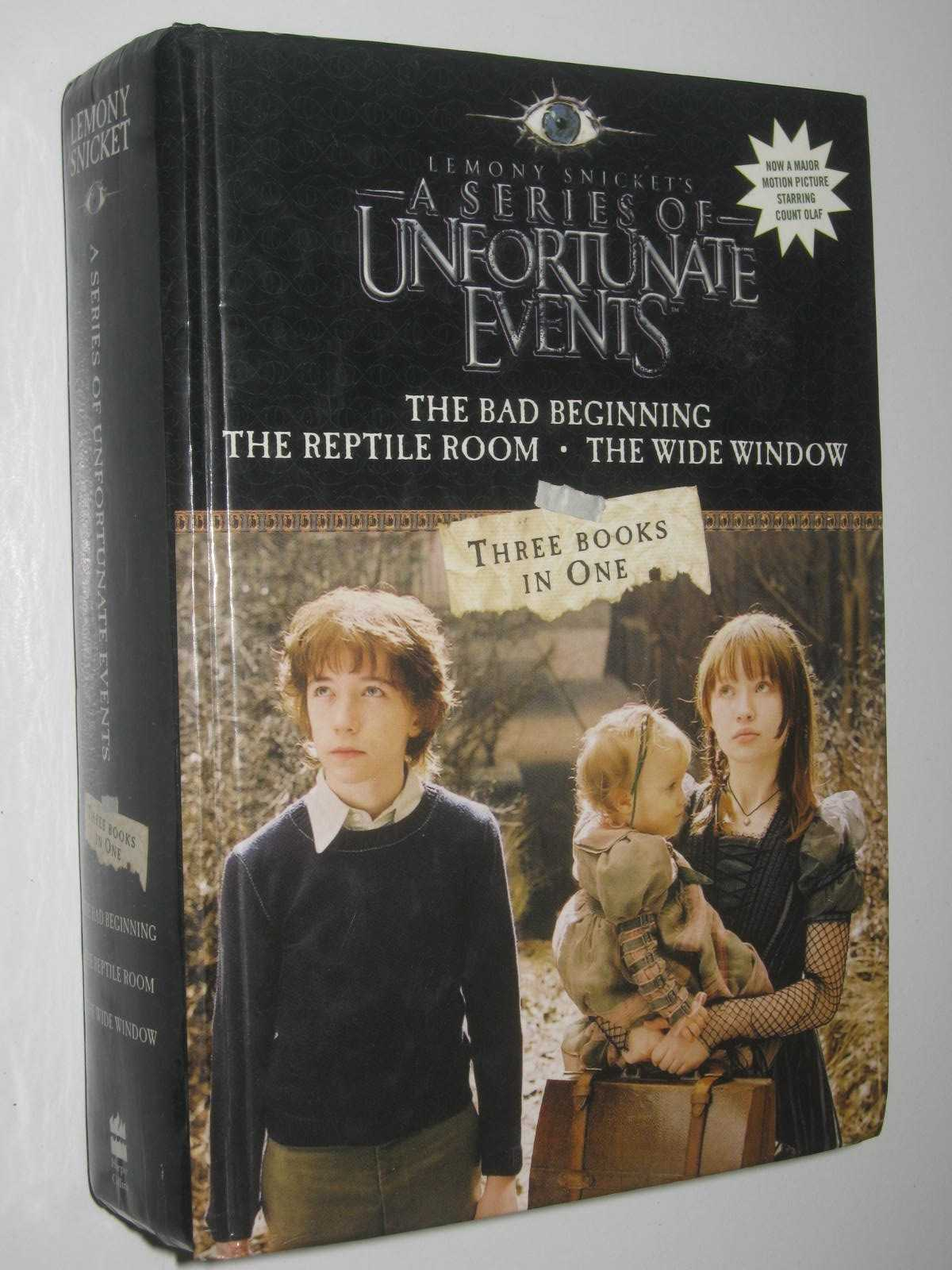 Image for A Series Of Unfortunate Events - The Bad Beginning & The Reptile Room & The Wide Window Series