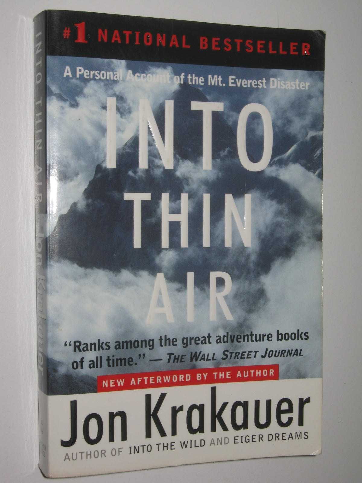 Image for Into Thin Air : A personal account of the Mount Everest Disaster