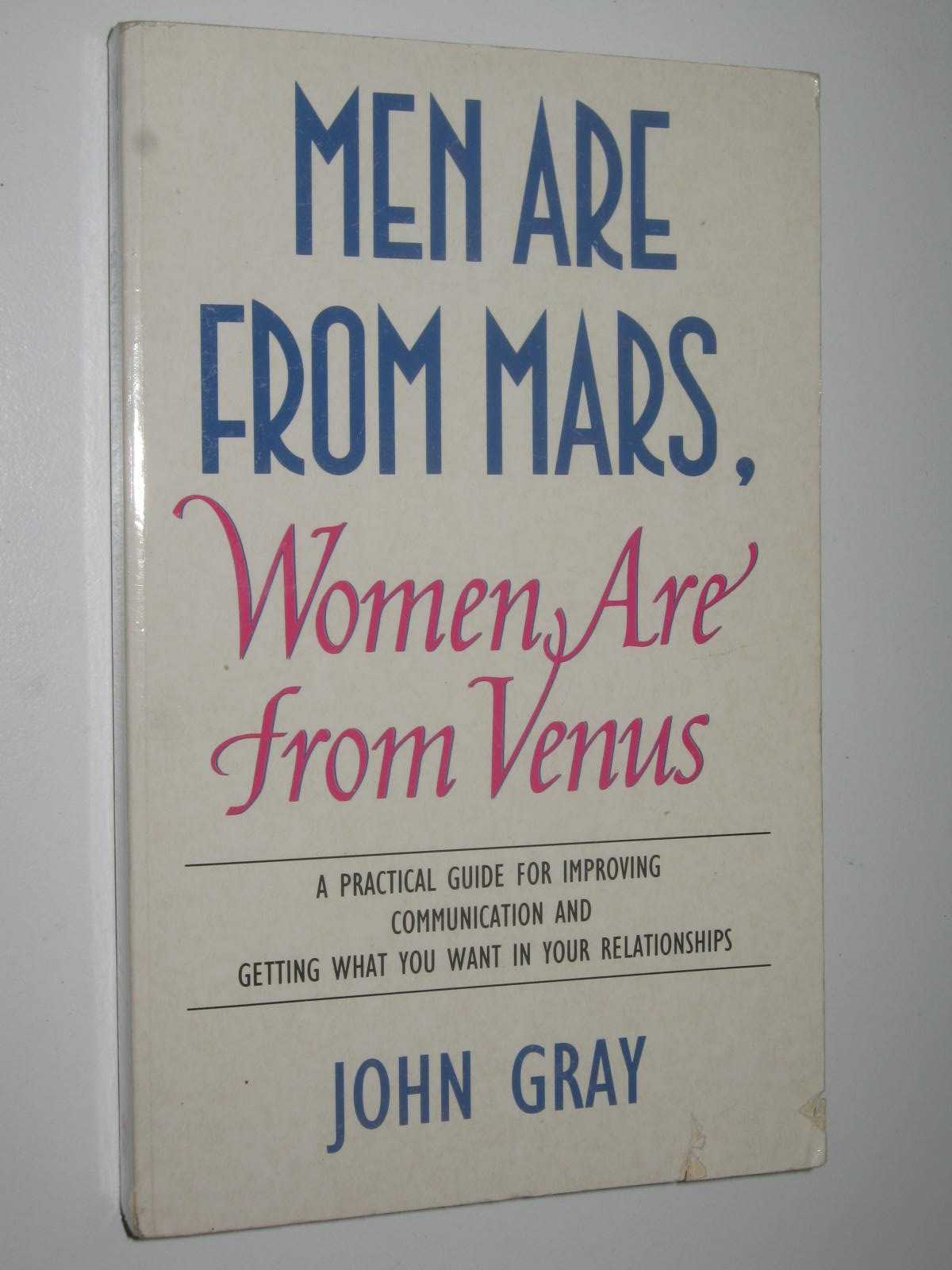 Image for Men Are from Mars, Women Are from Venus : A Practical Guide for Improving Communications and Getting What You Want in Your Relationships