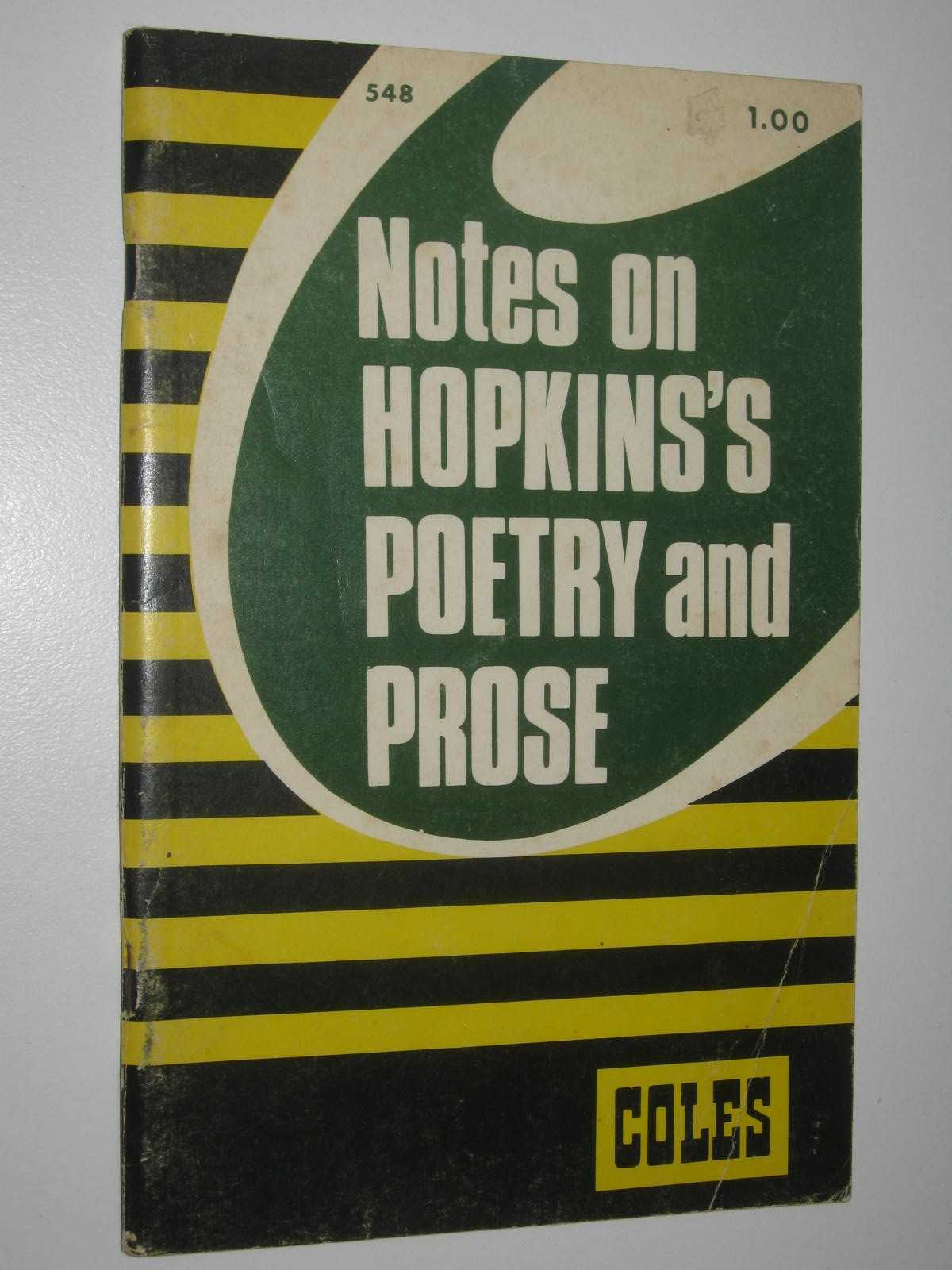Image for Notes On Hopkins's Poetry And Prose