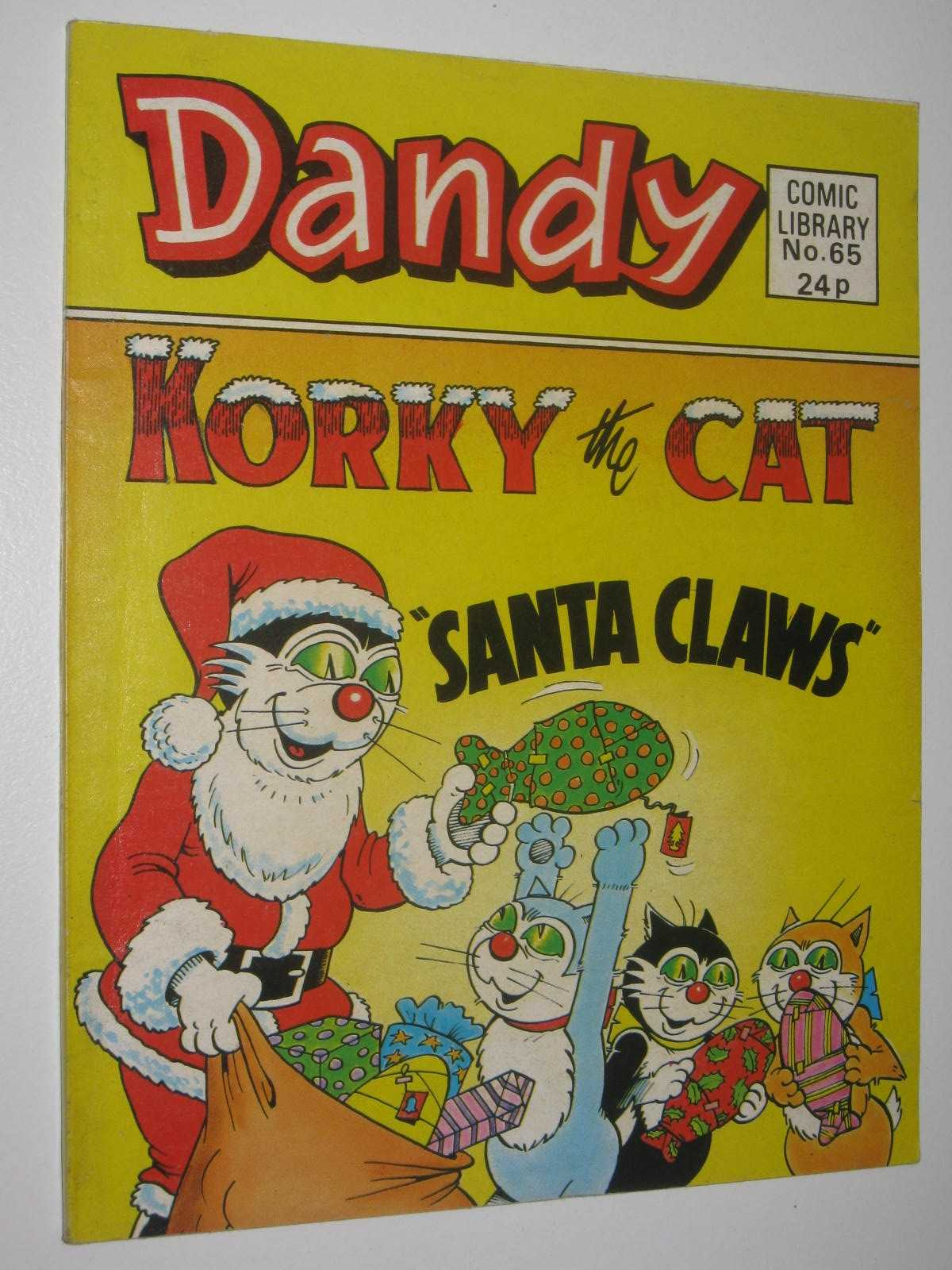 """Image for Korky the Cat in """"Santa Claws"""" - Dandy Comic Library #65"""