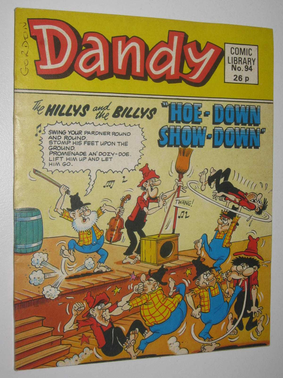 """Image for The Hillys nad the Billys in """"Hoe-Down Show-Down"""" - Dandy Comic Library #94"""