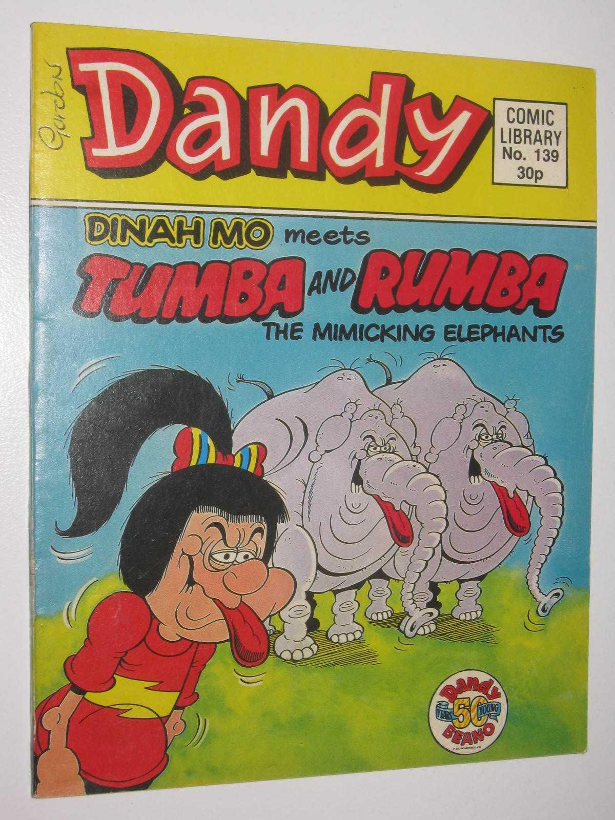Image for Dinah Mo Meets Tumba & Rumba the Mimicking Elephants - Dandy Comic Library #139