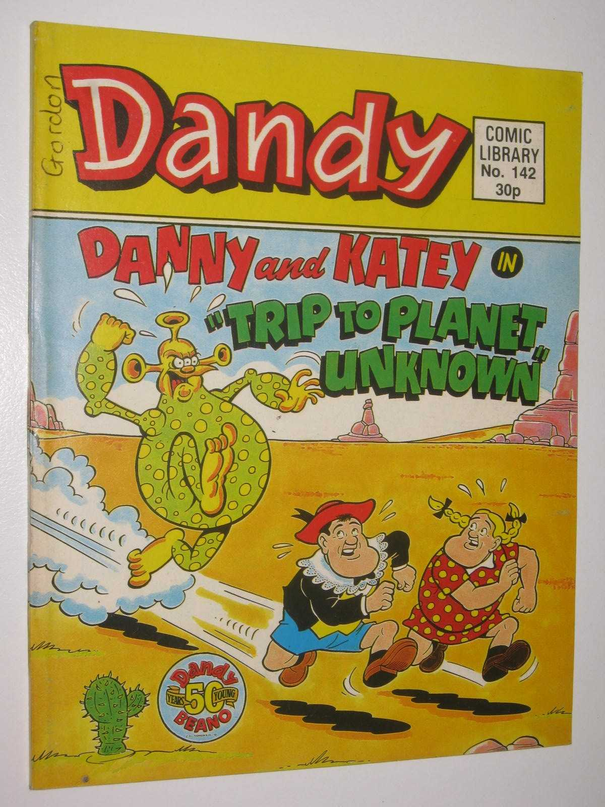 """Image for Danny and Katey in """"Trip to Planet Unknown"""" - Dandy Comic Library #142"""