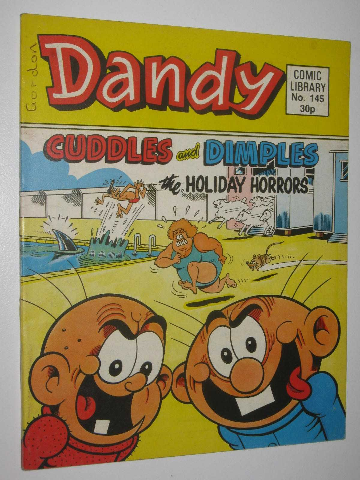 """Image for Cuddles and Dimples in the """"Holiday Horrors"""" - Dandy Comic Library #145"""