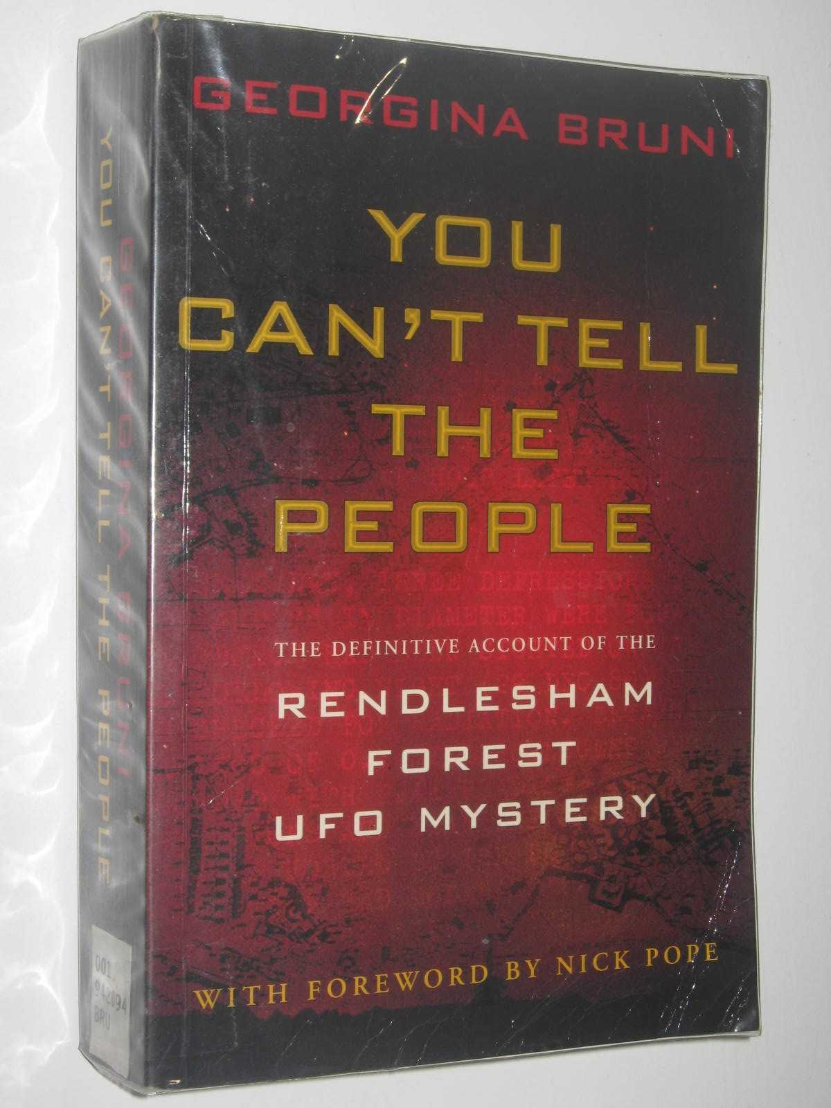 Image for You Can't Tell the People : The Cover-up of Britain's Roswell