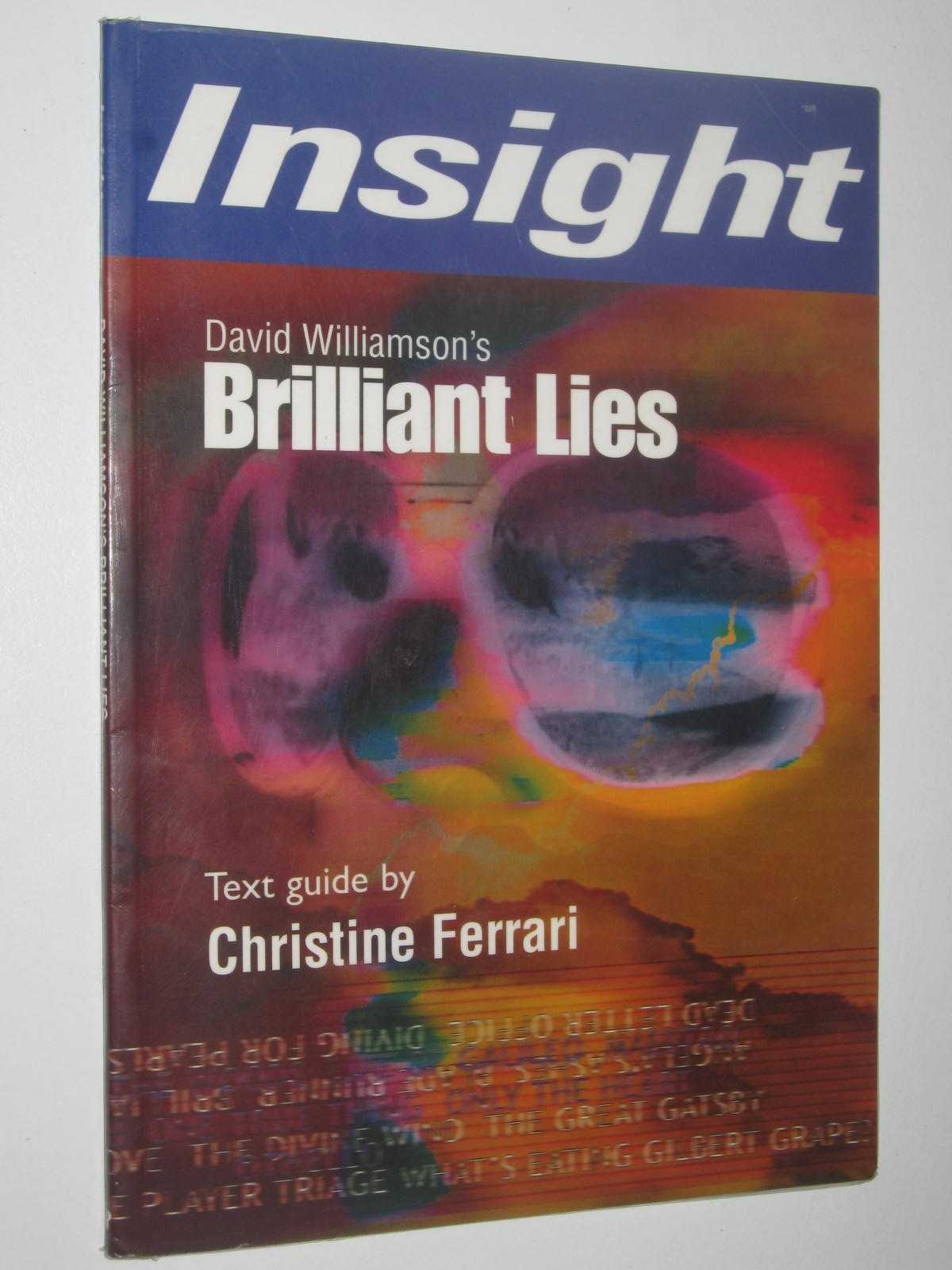 Image for David Williamson's Brilliant Lies : Insight Text Guide