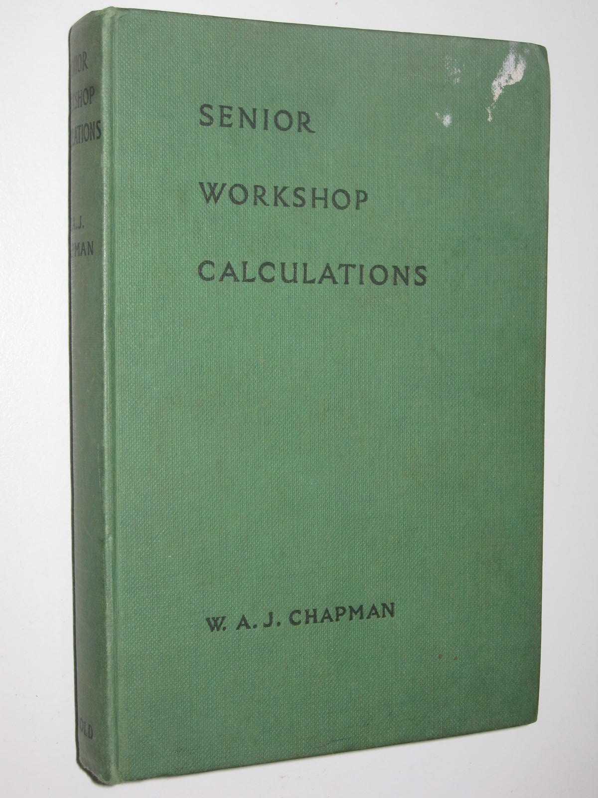 Image for Senior Workshop Calculations