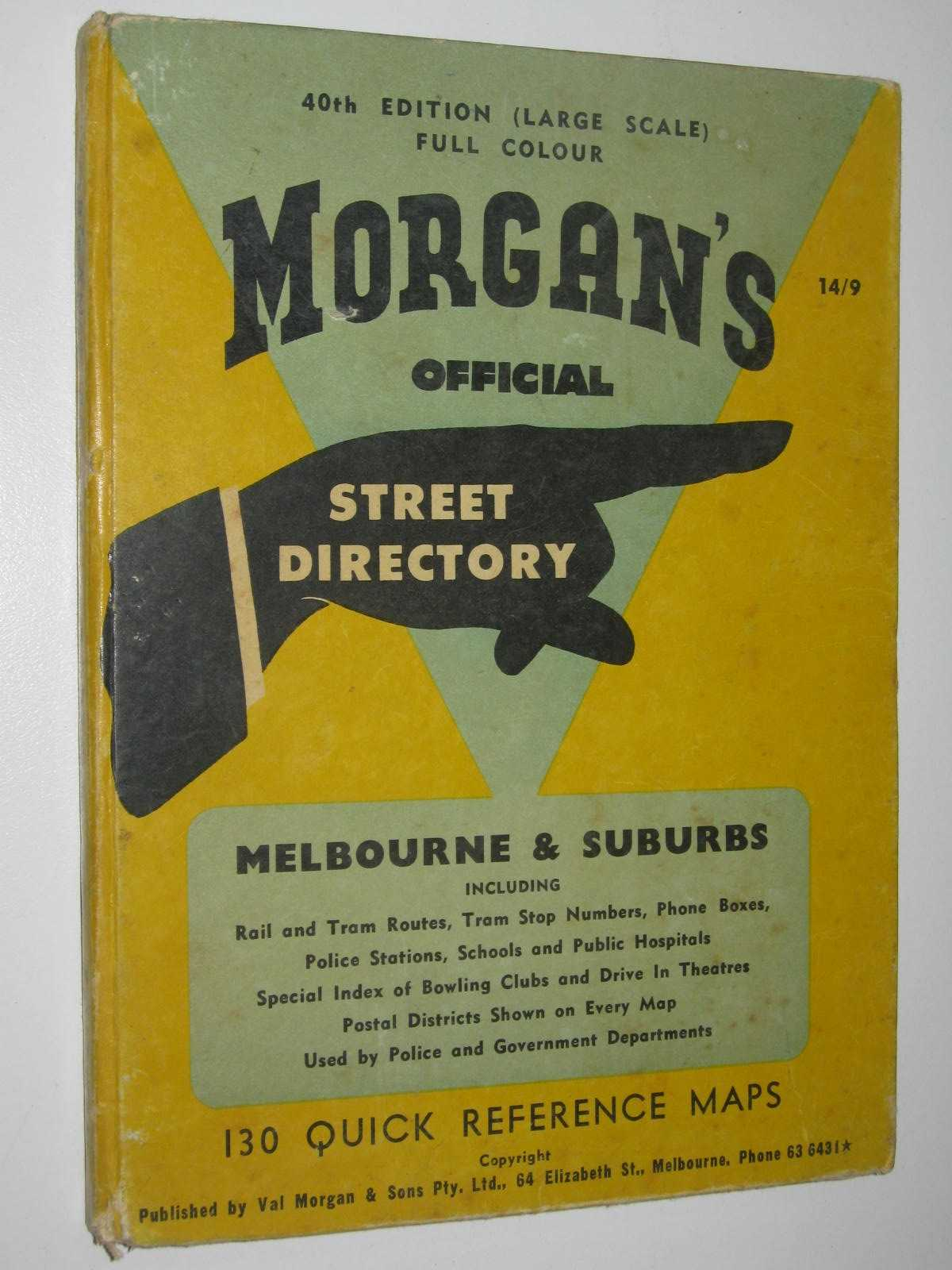 Image for Morgan's Official Street Directory