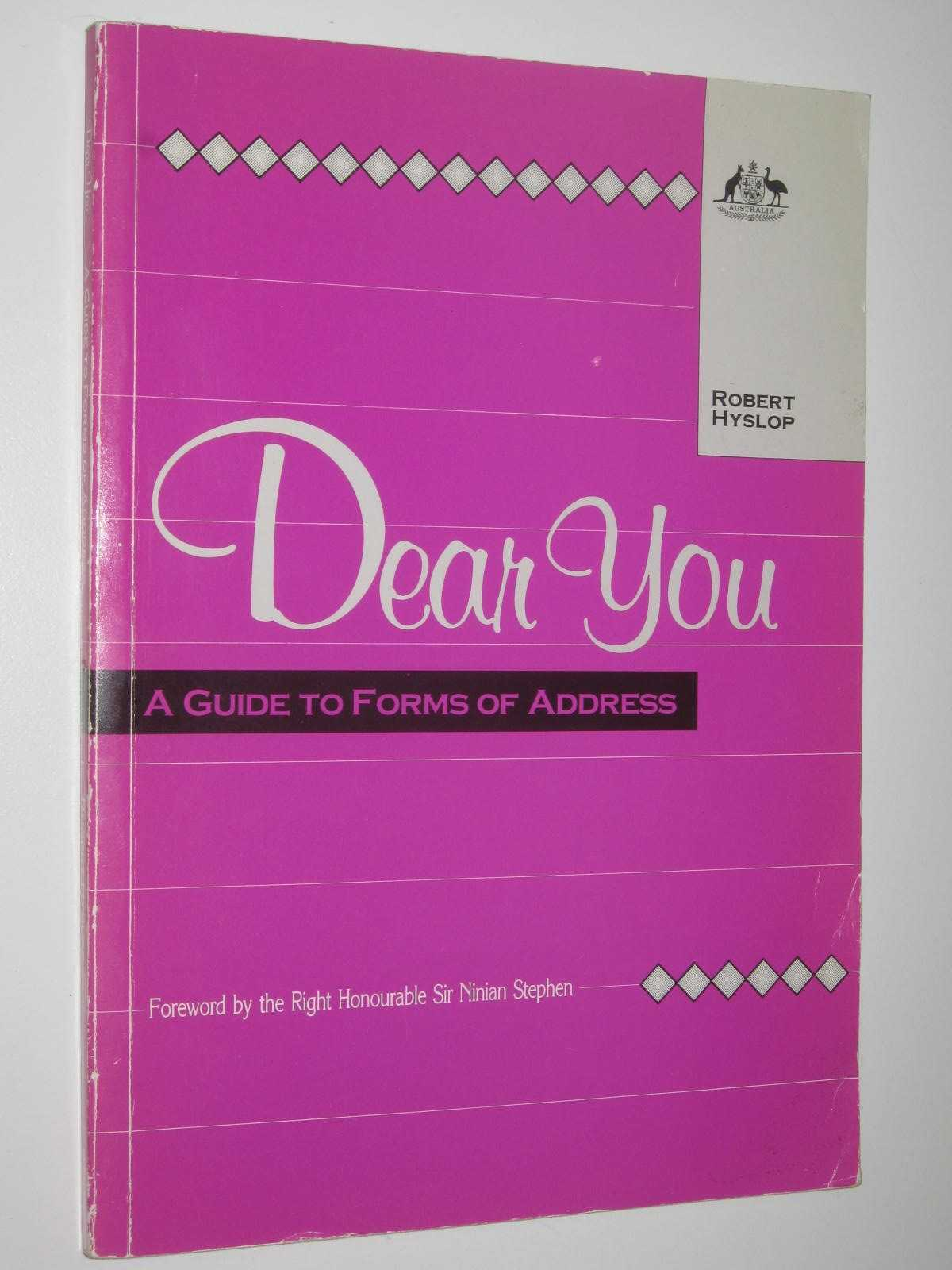 Image for Dear You : A guide to Forms of Address