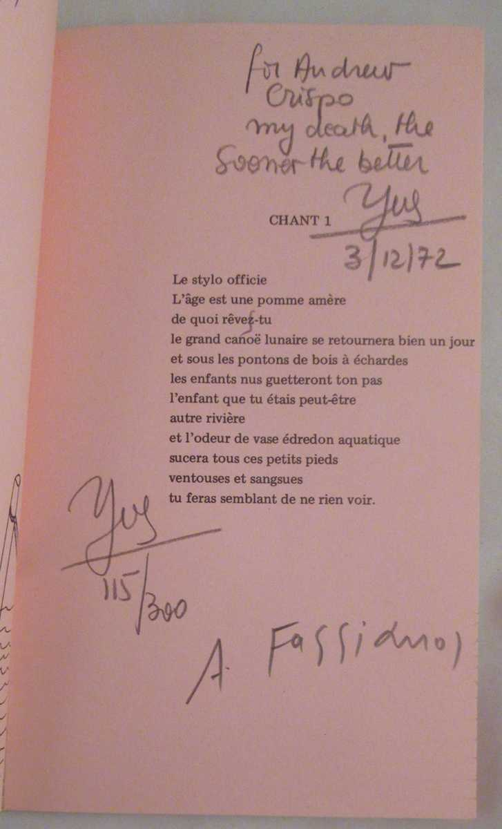 Details About Sept Chants Dans Un Avion Poeme 1972 Signed Sc Book