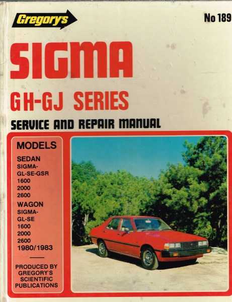 GREGORY'S - Sigma GH -GJ Series Gregory's Service and Repair Manual No 189