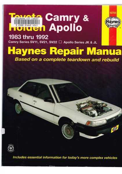 FORSYTHE, MIKE; HAYNES, J. H. - Haynes Toyota Camry and Holden Apollo Automotive Repair Manual 1983 to 1992