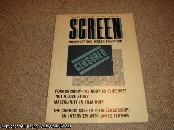 CAUGHIE, JOHN ET AL - Screen Volume 23, No. 5 - Nov - Dec 1982