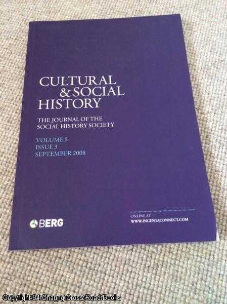 - Cultural & Social History Volume 5 Issue 3 September 2008 - Journal of the Social History Society
