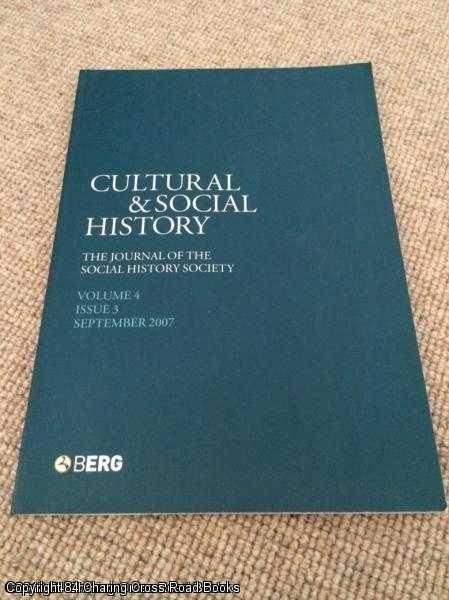 - Cultural & Social History Volume 4 Issue 3 September 2007 - Journal of the Social History Society