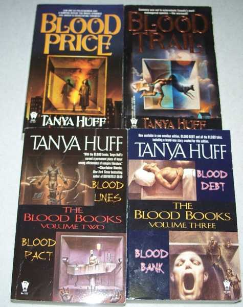 The Blood Books Set of 4 books: Blood Price; Blood Trail; Blood Lines; Blood Pact; Blood Debt; Blood Bank (6 titles), Huff, Tanya