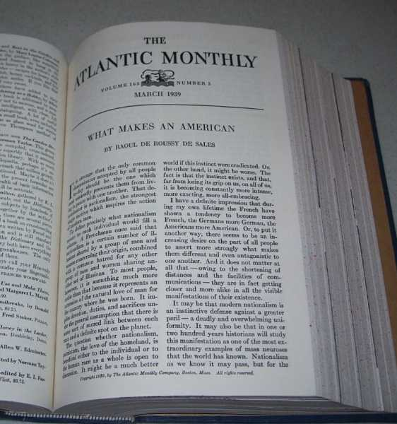 Atlantic Monthly Volume 163, January-June 1939, Bound Together, Various