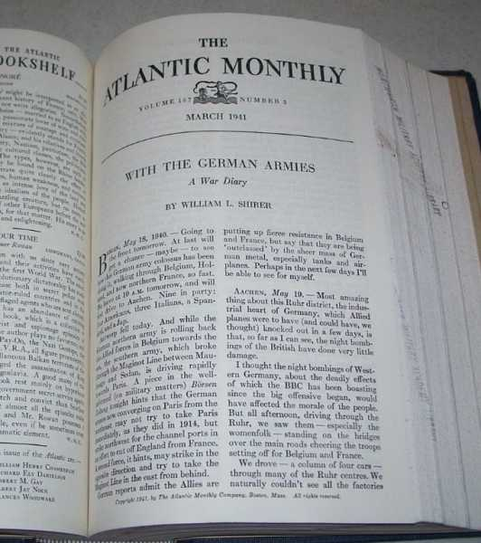 Atlantic Monthly Volume 167, January-June 1941, Bound Together, Various