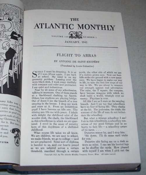 Atlantic Monthly Volume 169, January-June 1942, Bound Together, Various
