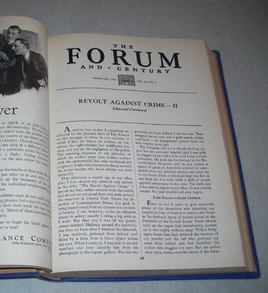 The Forum and Century Volume 93, January-June 1935 Bound Together, Various