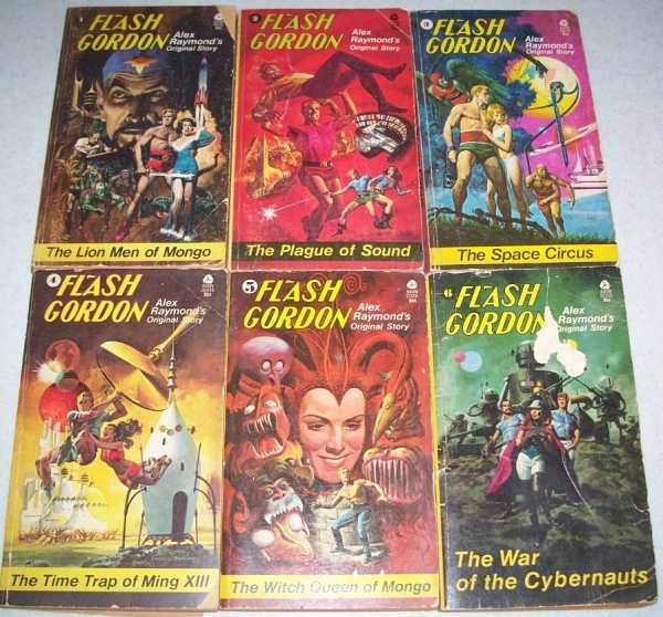 Flash Gordon Set of 6 Original Stories: 1-The Lion Men of Mongo; 2-The Plague of Sound; 3-The Space Circus; 4-The Time Trap of Ming XIII; 5-The Witch Queen of Mongo; 6-The War of the Cybernauts, Raymond, Alex