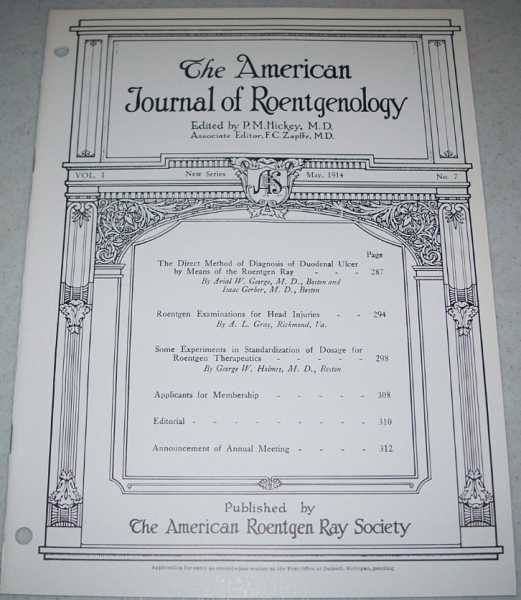 The American Journal of Roentgenology Volume I, Number 7, May 1914, Hickey, P.M. (ed.)