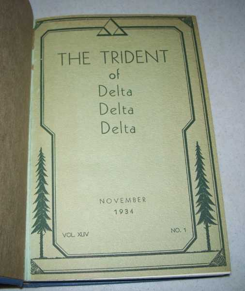 The Trident of Delta Delta Delta Volume 44, Numbers 1-4; November 1934-May 1935 Bound in One Volume, N/A