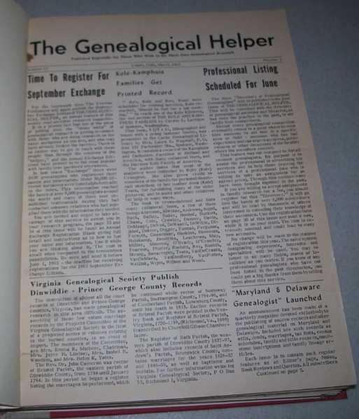 The Genealogical Helper Volume 17 and 18, March 1963-December 1964, N/A