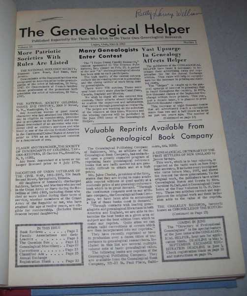 The Genealogical Helper Volume 19 and 20, March 1965-December 1966, N/A