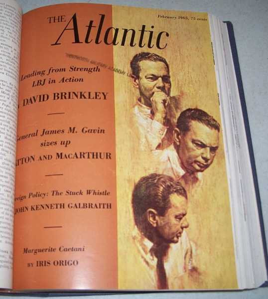 The Atlantic Monthly Magazine Volume 215, January-June 1965, Bound in One Volume, Various