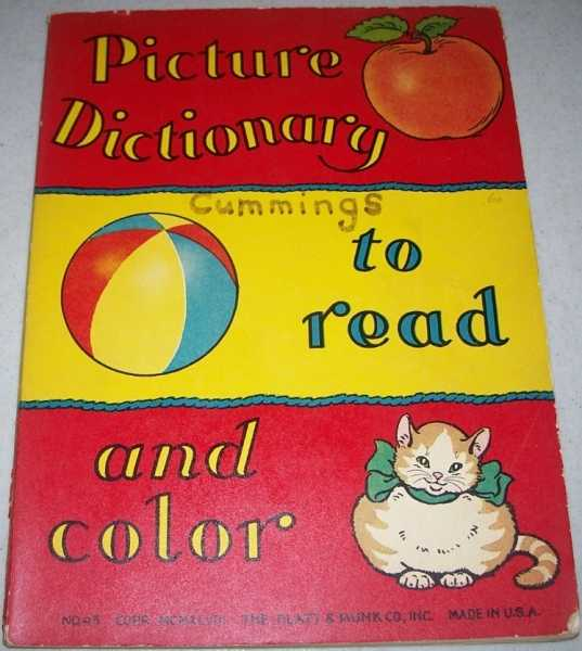 Picture Dictionary to Read and Color, Gatchell, Dorothy and Madden, Margaret