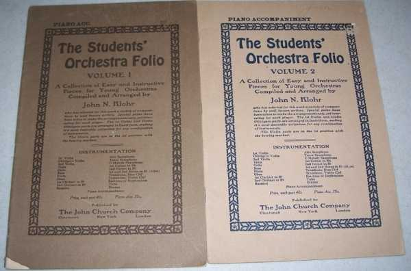 The Students' Orchestra Folio Volumes 1 & 2 (Piano Accompaniment), Klohr, John N.