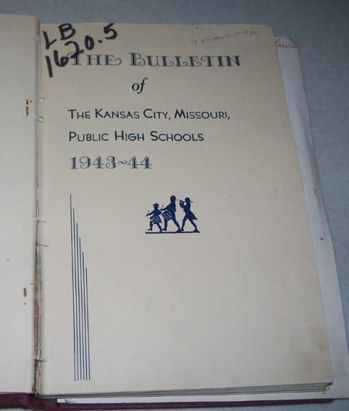 The Bulletin of The Kansas City Missouri Public High Schools lot of 17 Issues (1943-1960), N/A