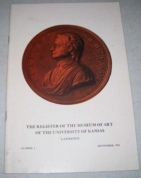The Register of the Museum of Art Number 4, September 1954 (The University of Kansas), N/A