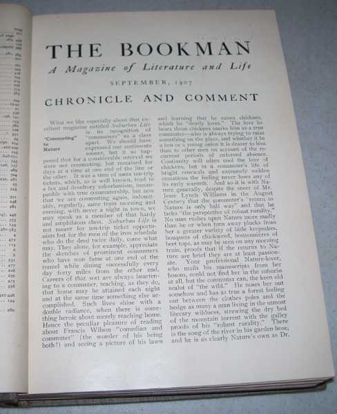 The Bookman: An Illustrated Magazine of Literature and Life Volume XXVI, September 1907-February 1908, N/A