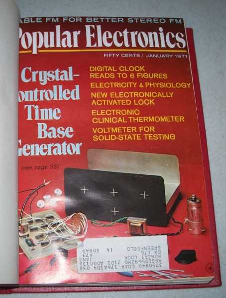 Popular Electronics Magazine Volume 34, January-June 1971 Bound in One Volume, N/A