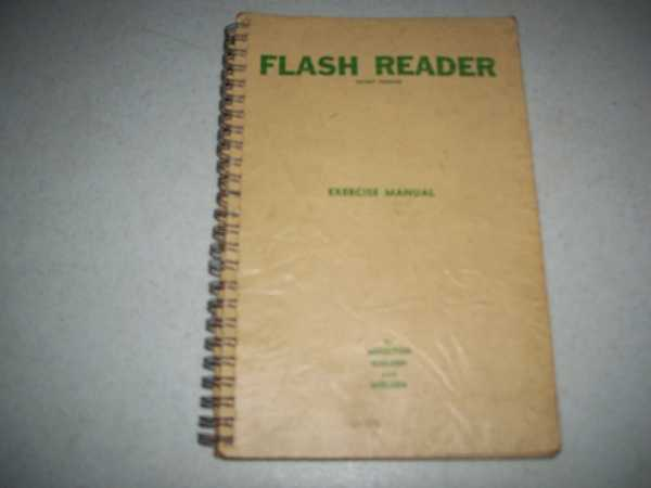 Flash Reader Exercise Manual, Moulton, Lee A.; Nielsen, Barbara C. and Nielsen, Victor L.