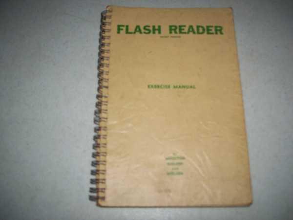 Flash Reader Exercise Manual, Moulton, Lee A.; Nielsen, Barbara C. and Nielsen, Victor L.