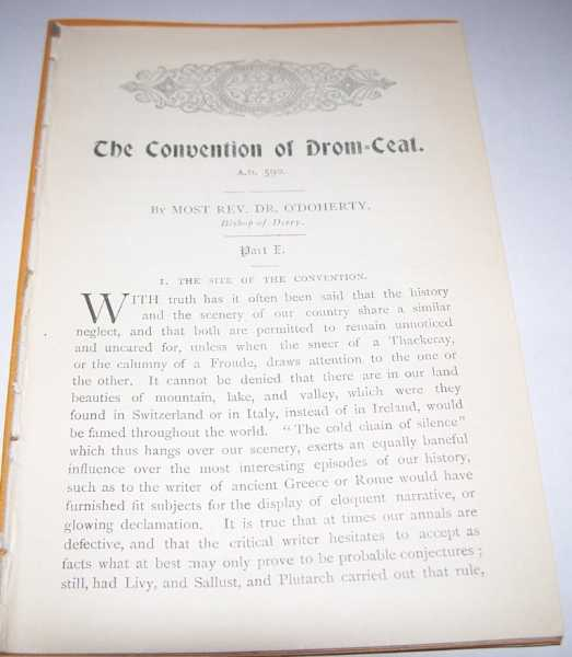 The Convention of Drom-Ceat in Two Parts, O'Doherty, Rev. Dr.