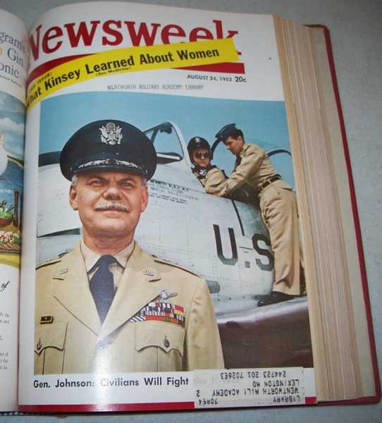 Newsweek Magazine Volume 42, July to September 1953 Bound in One Volume, N/A