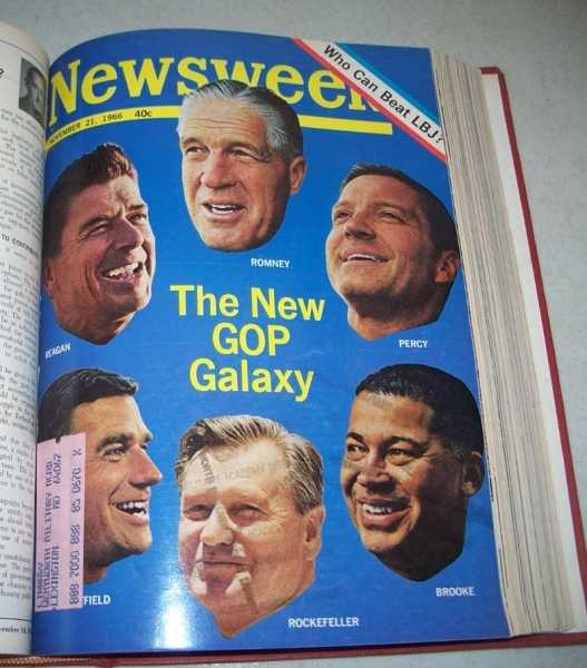 Newsweek Magazine Volume 68, October to December 1966 Bound in One Volume, N/A