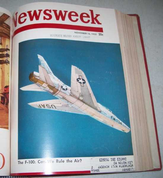 Newsweek Magazine Volume 42, October-December 1953 Bound in One Volume, N/A
