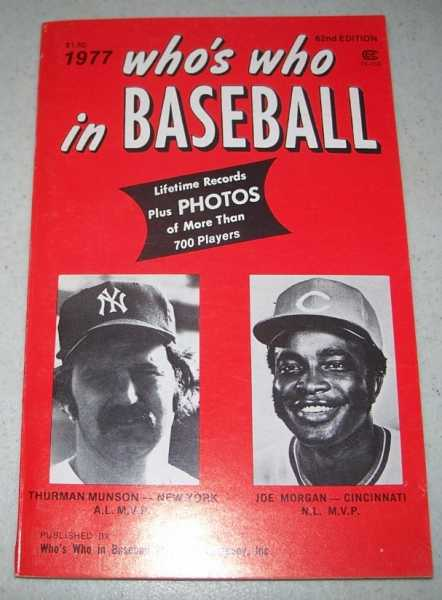 Who's Who in Baseball 1977, 62nd Edition, N/A