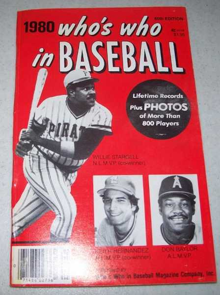 Who's Who in Baseball 1980, 65th Edition, N/A